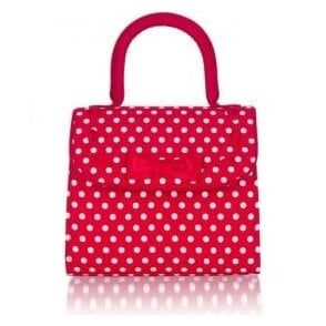 Womens Santiago Red Spots Handbag 50117