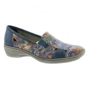 Womens Newark Blue Multi Slip On Casual Shoes 41385-92
