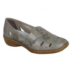 Womens Newark Gold Slip On Casual Shoes 41385-91