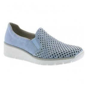 Womens Cristallin Blue Slip On Casual Shoes 537A6-10