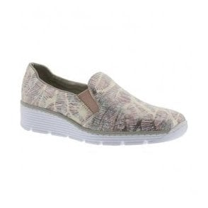 Womens Bouqet Multicolour Leather Slip-On Shoes 58766-92