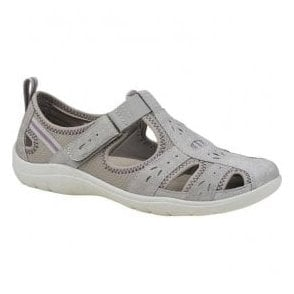 Womens Cleveland Khaki Casual Velcro Open Shoes 28053
