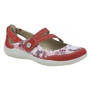 Womens Maryland Red Strap Over Casual Shoes 28065