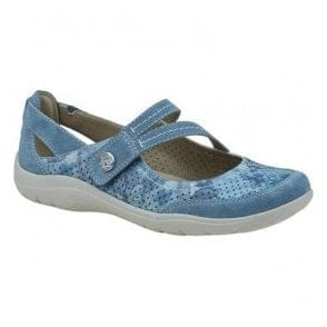 Womens Maryland Moroccan Blue Strap Over Casual Shoes 28066