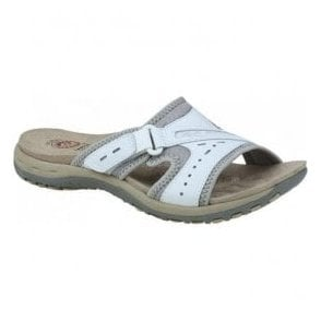 Womens Lakewood White Velcro Mules 28084