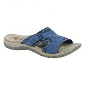 Womens Lakewood Cobalt Blue Velcro Mules 28086