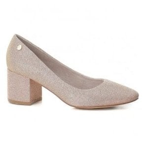 Womens 30706 Nude Glimmer Slip-On Court Shoes