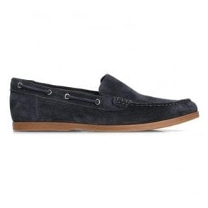 Mens Morven Sun Navy Suede Boat Shoes 26132469