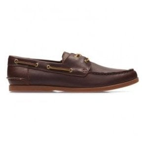 Mens Morven Sail British Tan Leather Boat Shoes 26132480