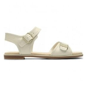 Womens Bay Primrose White Leather Sandals 26131937