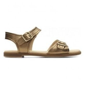 Womens Bay Primrose Bronze Metallic Leather Sandals 26131936
