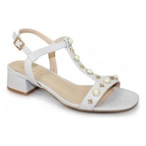 Womens Madeira Grey Jewelled Sling-Back Sandals JLE072 GR