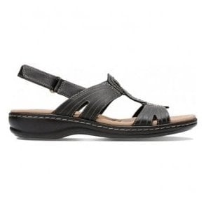 Womens Leisa Vine Black Leather Mule Sandals 26134113