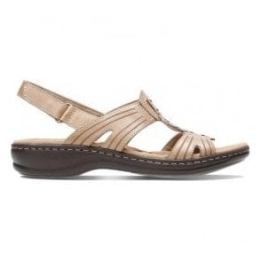 Womens Leisa Vine Sand Leather Mule Sandals 26134115