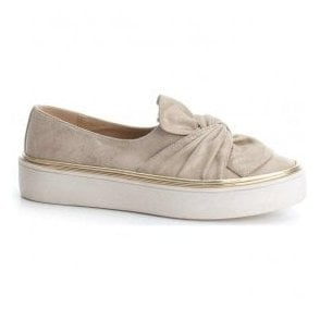 Womens 47829 Beige Slip-On Shoes