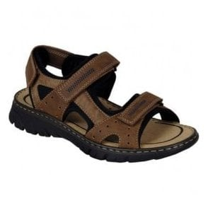 Lava Brown Strap Over Sandals 26757-24