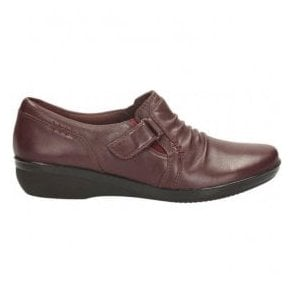 Womens Everlay Coda Burgundy Leather Casual Shoes
