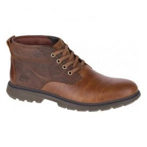 Mens Trenton Brown Sugar Leather Wide Fit Chukka Boots