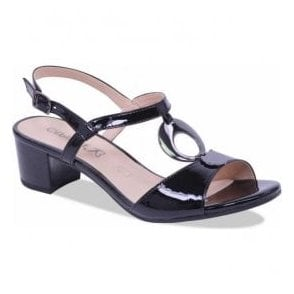 Womens Arielle Black Patent Sandals 9-28210-20 018