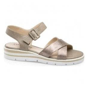 Womens Grace Taupe Multi Leather Sandals 9-28700-20 344