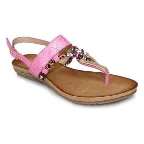Womens Aries Pink Toe Post Fashion Sandals JLH901 PK