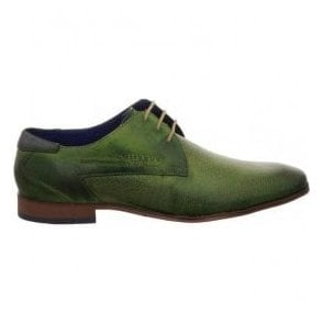 Mens Mattia Green Lace Up Derby Shoes 311-10108-2100-7000