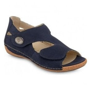Womens Heliett Dener Blue Strap Over Sandals 342021 191 217