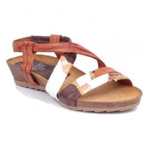 Womens Multi-Colour Leather Slip-On Sandals 404 B8 25