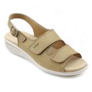 Womens Easy Sand Leather Slingback Sandals