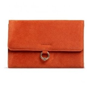 Womens Hebe Paprika Suede Clutch Bag 2777330Z000