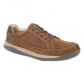 Mens Dark Brown Waxy Nubuck Leisure Shoes M9559B