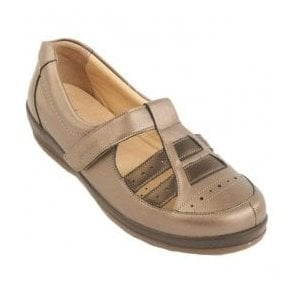 Womens Foxton Pewter Extra Wide Shoes
