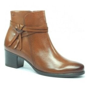 Womens Balina Cognac Leather Ankle Boots 9-25359-29 303