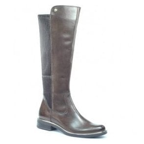 Womens Kania Dark Brown High Leg Boots 9-25515-29 337