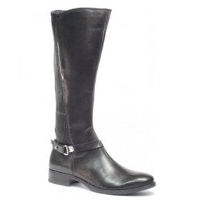 Womens Belen Black High Leg Boots 9-25521-29 022