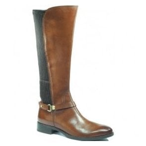 Womens Belen Cognac High Leg Boots 9-25521-29 303