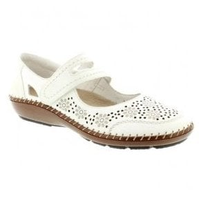 Womens Cristallin White Mary Jane Shoes 44875-80