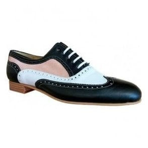 Womens Marco Ciervo Black Lace Up Brogue Shoes 6183