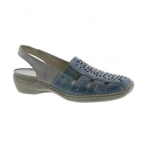 Womens Ganges Blue/White Sling Back Casual Shoes 41390-10