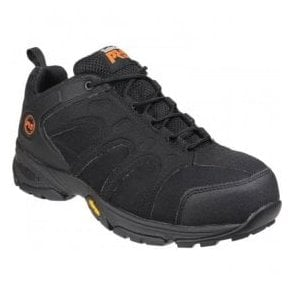 Mens Wildcard Black Lace-Up Safety Shoes