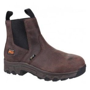 Mens Workstead Brown Water Resistant Pull-On Dealer Safety Boots