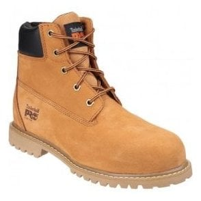 Womens Waterville Wheat Lace-Up Water Resistant Safety Boots