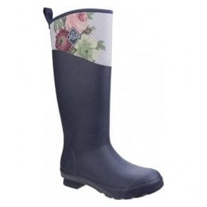 Womens Tremont RHS Print Navy/Grey Waterproof Wellington Boots