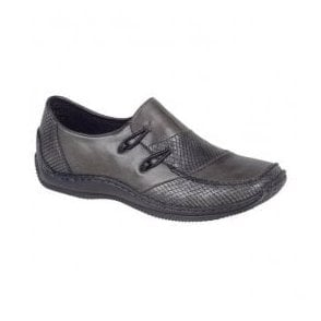 Womens Amrum Grey Combi Casual Slip On Shoes L1762-46