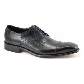 Mens Byron Black Leather Lace Up Shoes