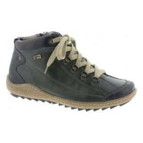 Womens Green Combi Waterproof Ankle Boots R4779-52