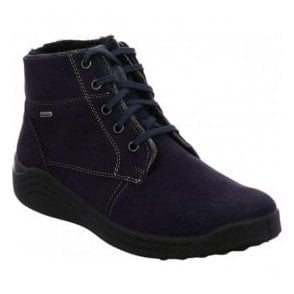 Womens Madera 08 Blue Combi Lace-Up Waterproof Ankle Boots