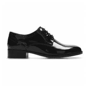 Womens Netley Rose Black Patent Leather Lace Up Shoes