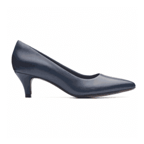 Womens Linvale Jerica Navy Leather Court Shoes 26137211