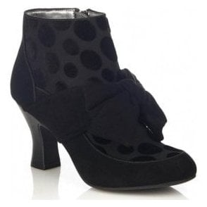 Womens Seren Black Zip-Up Ankle Boots 09232